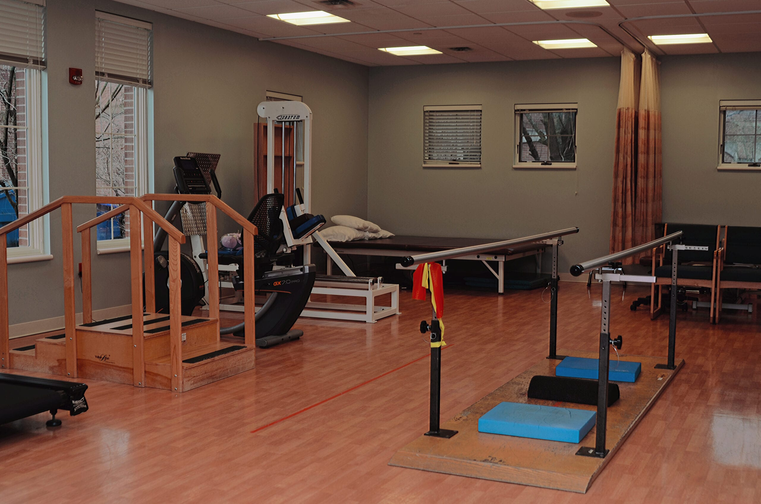Inpatient and outpatient rehab